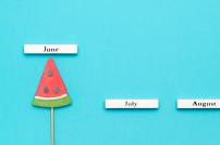 Melone im Monat Juni