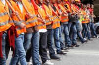 Streikende Arbeiter