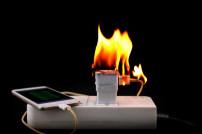 brennendes Smartphonekabel