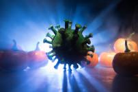 Virus in einem Halloween-Setting