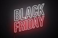 Leuchtender Schriftzug zum Schnäppchen-Tag Black Friday