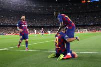 Messi und Spieler des FC Barcelona