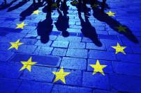 Menschenschatten auf EU