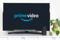 Fernseher, mit Amazon-Prime-Video-Logo