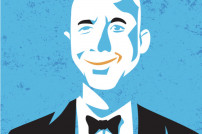 Amazon-Gründer Jeff Bezos im Comic-Stil