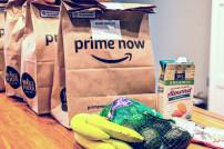 Amazon Prime Now lieferte Lebensmittel und Produkte des täglichen Bedarfs