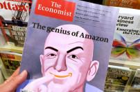 Bild von Jeff Bezos auf einem Magazincover