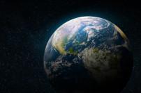 Weltraumflug: Erde vom Weltall aus betrachtet