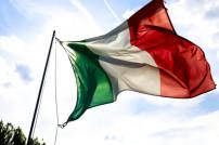Italienische Flagge im Wind