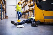 Arbeitsunfall in einem Logistiklager