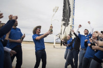 Blue Origin Team feiert