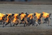 Brennende Stunt-Leute