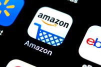 Amazon-App auf einem Display