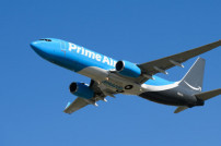 Luftfracht: Flugzeug von Amazon