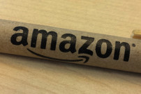 Stift mit Amazon-Logo, Nahaufnahme