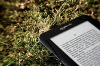 Amazon Kindle Gerät im Gras