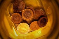 Euro-Münzen in Dose