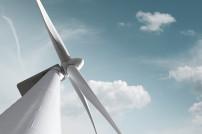 Turbine im Windpark