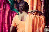 Frau in indischem Gewand