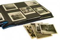 Fotoalbum mit Fotos aus dem Krieg