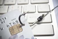 Kreditkarte am Angelhaken