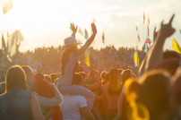 Zuschauer bei einem Konzert