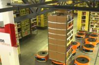 Amazons Kiva Roboter im Einsatz.