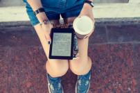 Lesen auf einem E-Book-Reader