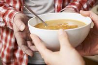 Suppe für Obdachlosen