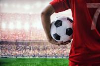 Fußballer mit Ball